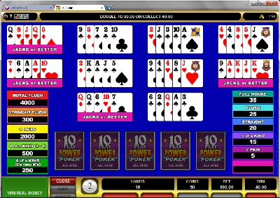 All Aces 10 Play Power Poker