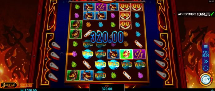 3 Devils Pinball Slot Game Bonus Feature