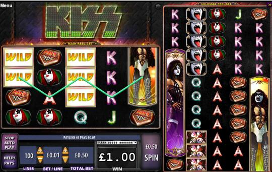 rock band kiss online slots games