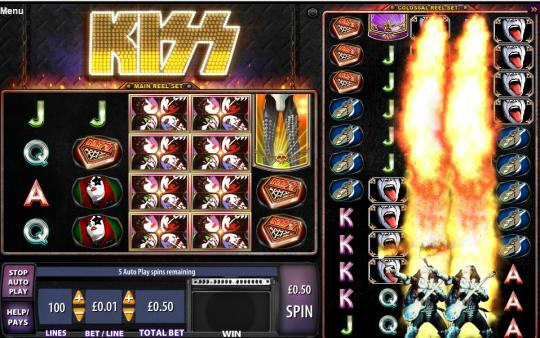 Kiss online slot game