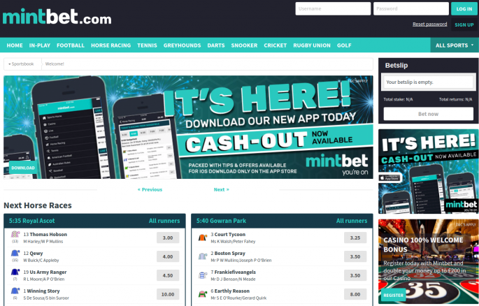 MintBet Sportsbook and Casino