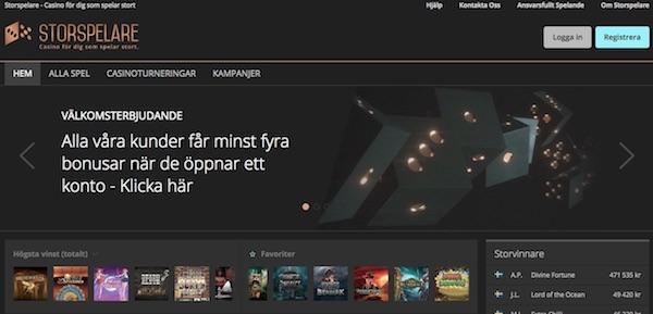Storspelare Casino Sverige