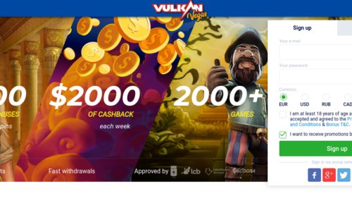 VulkanVegas Casino review