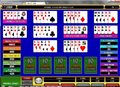 Aces and Faces 10 Play Poker