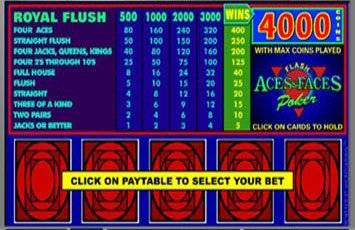Aces And Faces Poker Freegames