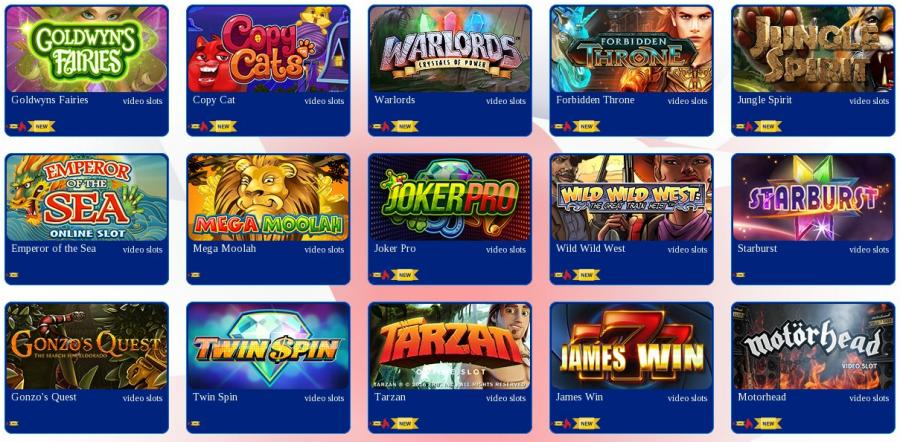 All British Casino games