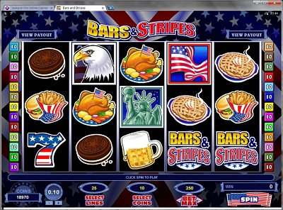 Bars and Stripes Video Slot