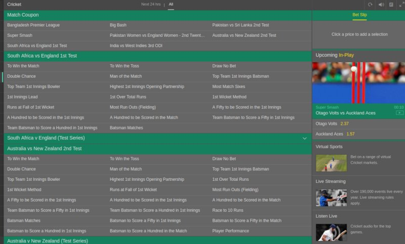 Bet365 India Cricket betting