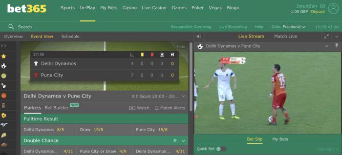 Bet365 Soccer Live Stream Score