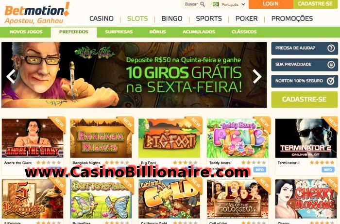 Galeria de imagens Betmotion Casino Bingo Sports