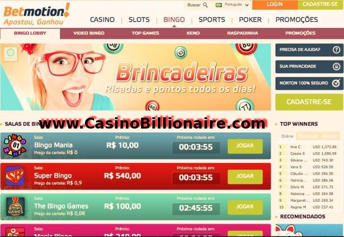 Betmotion  - Casino Bingo Apostar Esportes