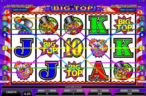 Big Top slots - jogo caça niquel