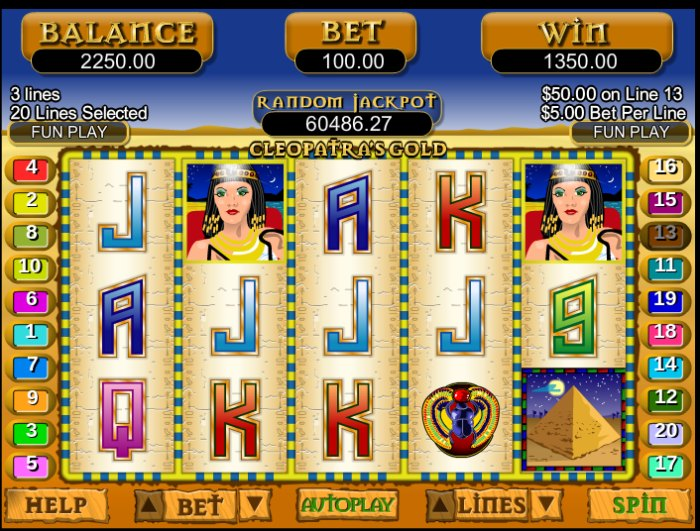 Cleopatras Gold Slot game