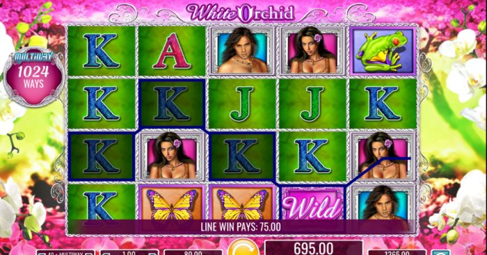 White Orchid slot game IGT