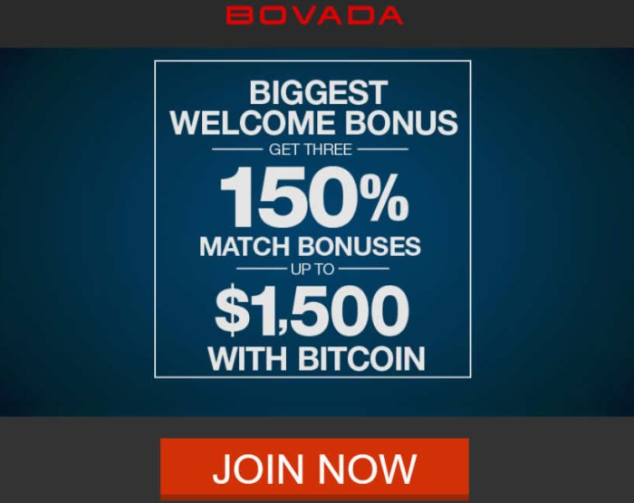 Bovada Casino Bitcoin bonus