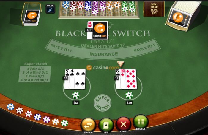 Play free Blackjack Switch game
