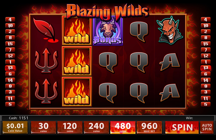 Blazing Wilds Slot Game at Slotland