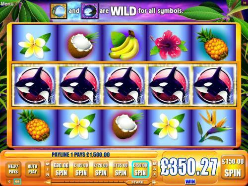 Blue Moon slot machine at Jackpot Party Online Casino UK