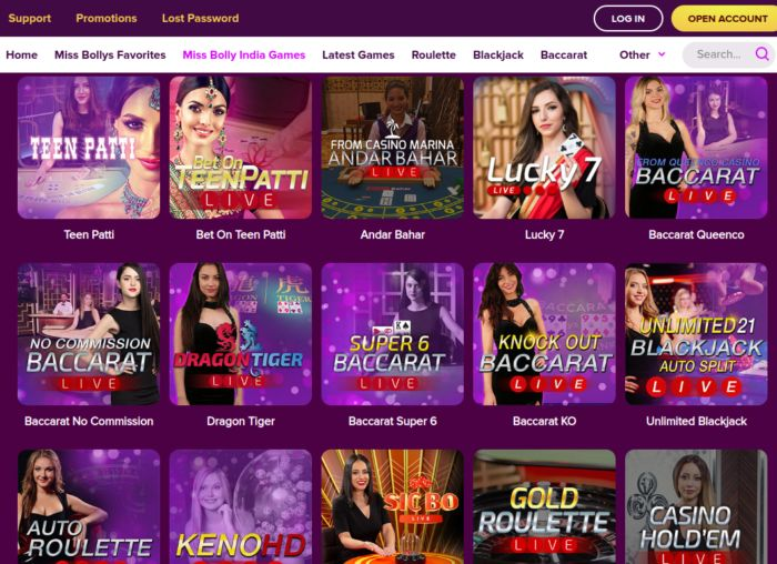 Bollybet India Live Games
