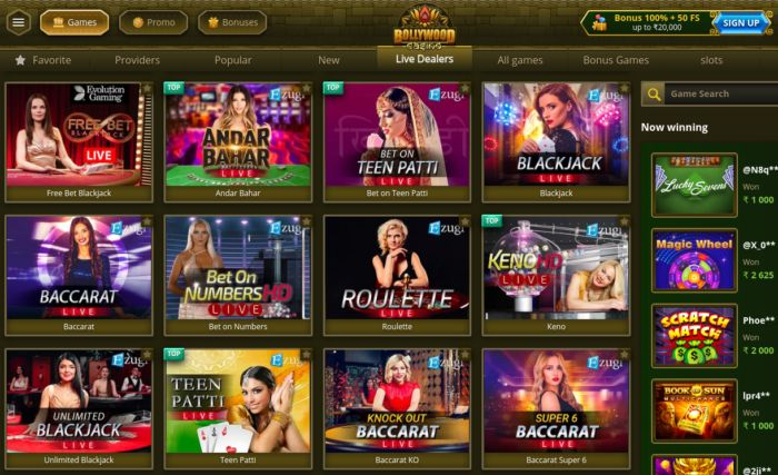 Bollywood Casino India Live Games