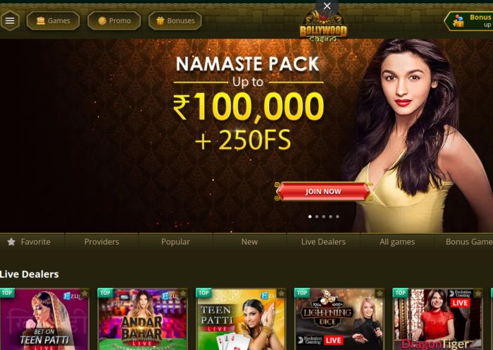 Bollywood Casino India Review