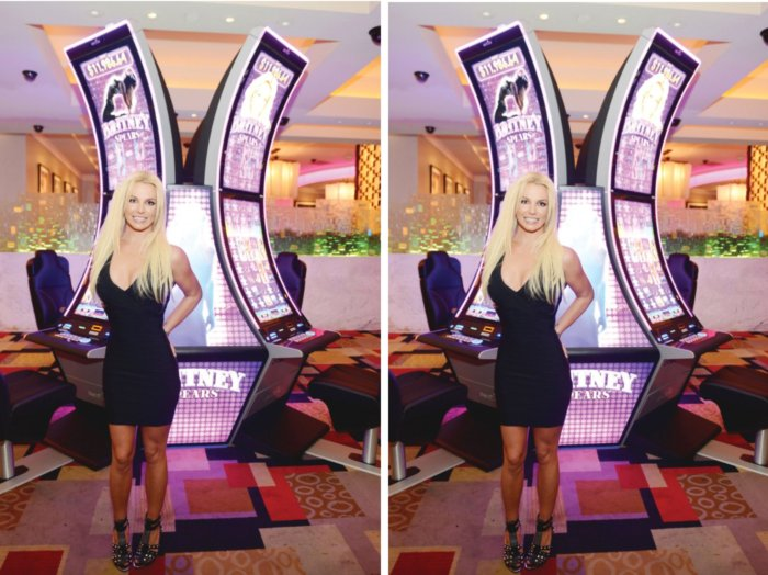Britney Spears slot machine in Las Vegas
