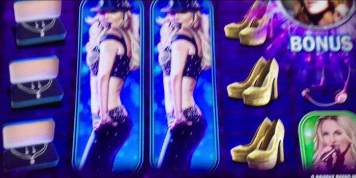Britney Spears slot machine in Las Vegas casinos