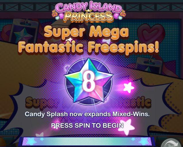 Candy Island Princess Slot Free Spins