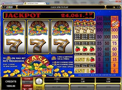 Cash Splash 3 Reel Slot