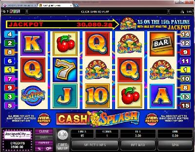 Cash Splash 5 Reel Slot