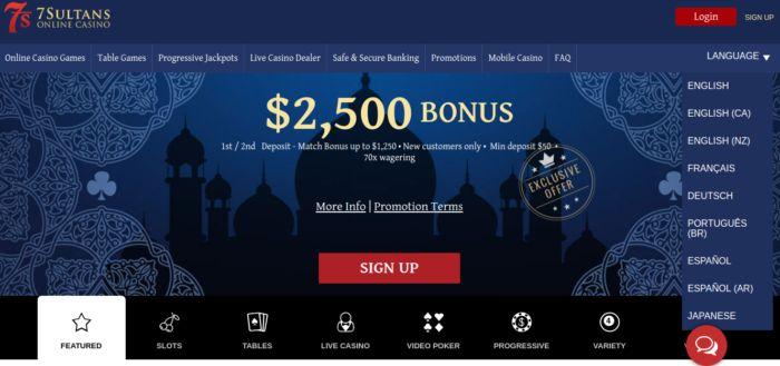 7 Sultans Casino Affiliate Program