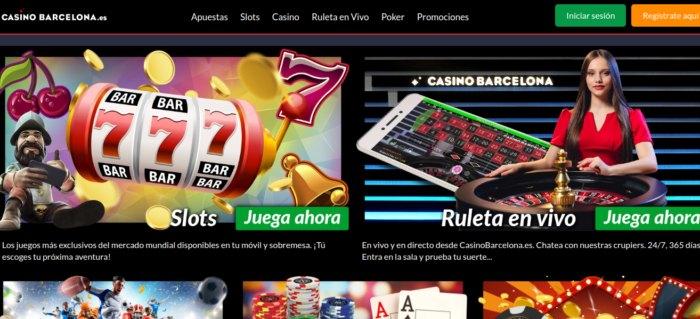 Casino Barcelona online - jugar Ruleta en Vivo, Poker, Tragaperras y apuestas en fútbol
