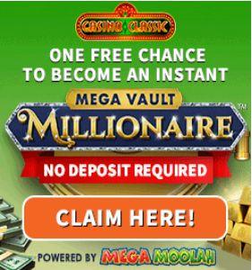 Casino Classic: 40 Spins on Mega Vault Millionaire