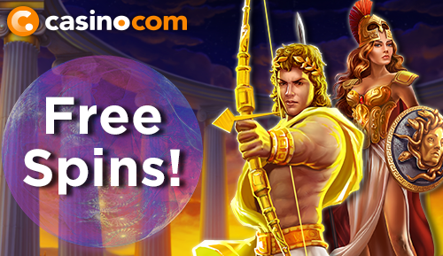 CasinoCom - free spins for new players