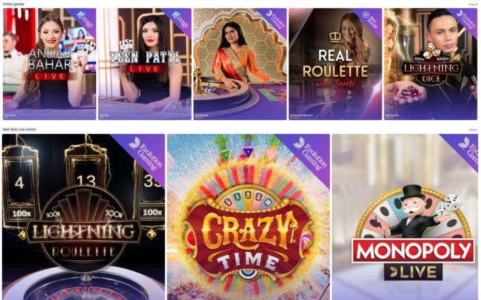 Casinodays India Live Games