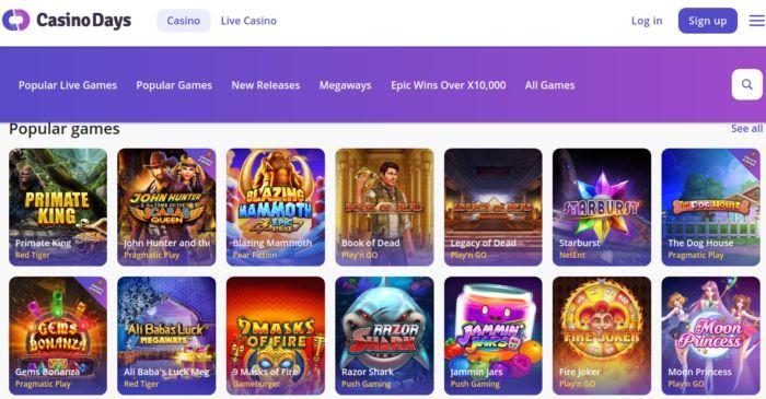 Casinodays India Slot Games