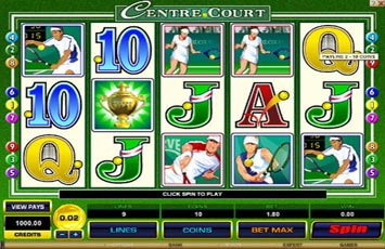 Centre Court Slot Game Microgaming