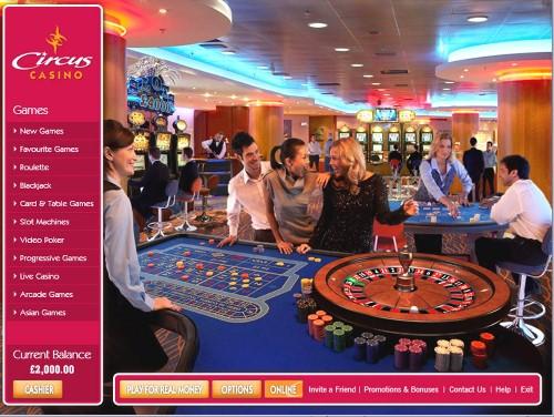 Circus Casino - UK Casino