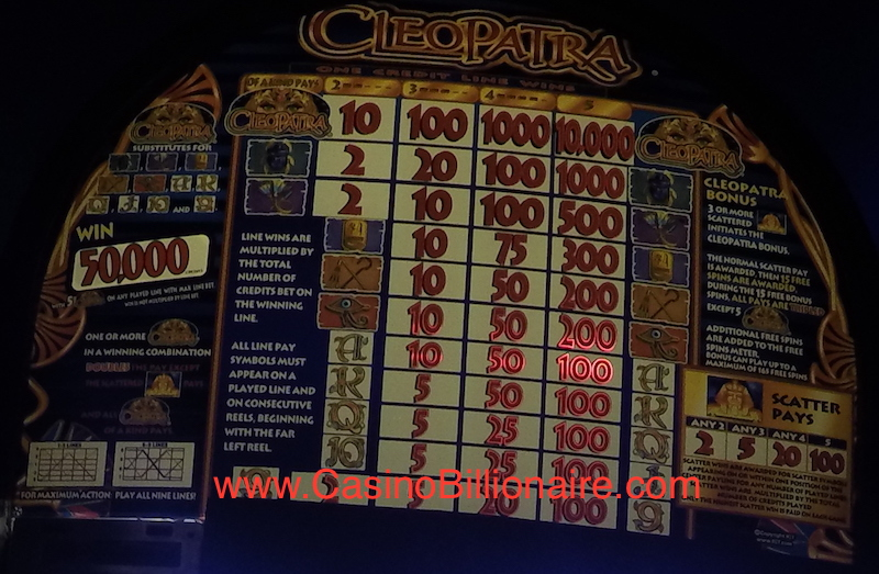 Cleopatra Slot Machine at Punta Cana Casino