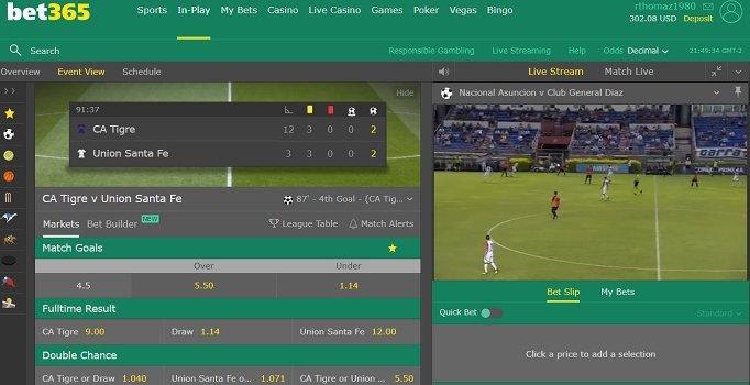 Cómo ver fútbol en vivo en Bet365 España