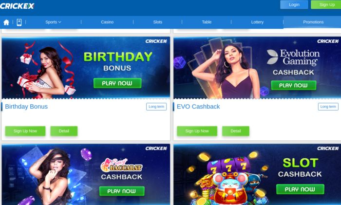 Crickex India Review Promotions