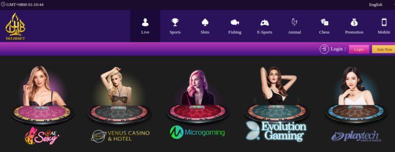 Delhibet Live Casino Games