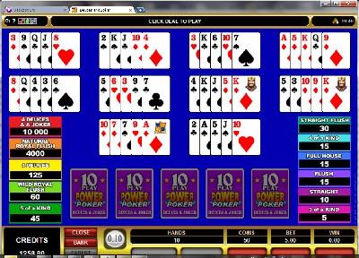Deuces and Joker 10 Play Power Poker