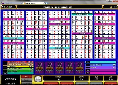 Deuces and Joker 50 Play Power Poker