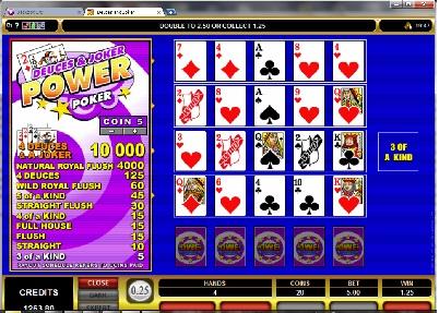 Deuces and Joker Power Poker