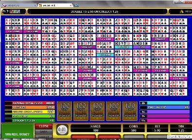 Deuces Wild 100 Play Power Poker