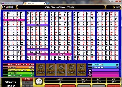 Deuces Wild 50 Play Power Poker