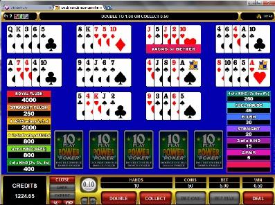 Double Double Bonus 10 Play Power Poker