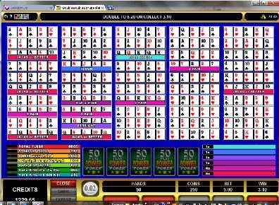 Double Double Bonus 50 Play Power Poker