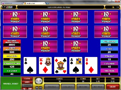 Double Joker 10 Play Power Poker